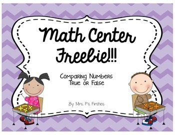 Math Center Freebie! {Comparing Numbers}
