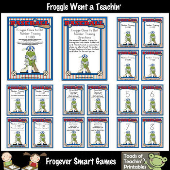 Math Center--Froggie Goes to Bat (Number Tracing 1-100)