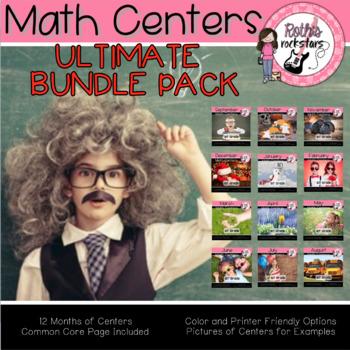 Math Centers - 1st Grade Math - GROWING Bundle
