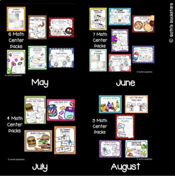 Year Long Math Centers - 1st Grade Math - Bundle Pack