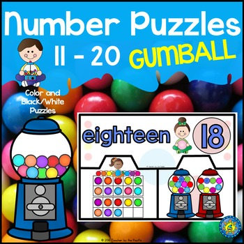 Math Center: GUMBALL Number Puzzles 11 – 20
