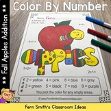 Color By Numbers Apple Themed Addition Color By Code Worksheets