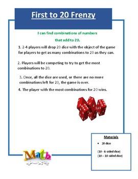 Math Center Game Bundle