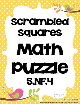 Math Center Game Common Core Aligned 5.NF.4 - Multiplying Fractions
