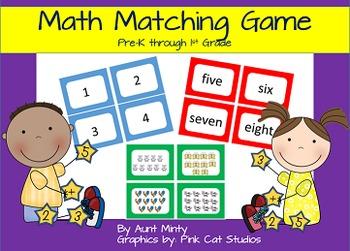 Matching Math Game Kindergarten-1st Grade Math Center Game Meets CCSS