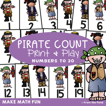 Math Center / Game - Pirate Count - Counting Order