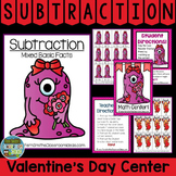 St Valentine's Day Mixed Subtraction Center Game