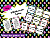 Math Center Games - 9 Hands on Games!