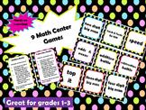 Math Center Games - 9 Hands on Games!