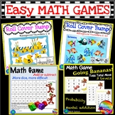 Math Center Games Learning NUMBERS BUNDLE 1-10 RECOGNITION Roll Cover Bump Fun
