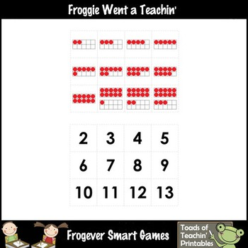 Math Center--Gavin Gator Loves Numbers What Comes After? Ten Frames & Numbers