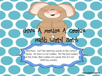 Math Center-Give A Mouse A Cookie