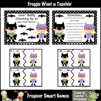 Math Center -- Goin' Batty Counting by 5s (What Comes Between?)