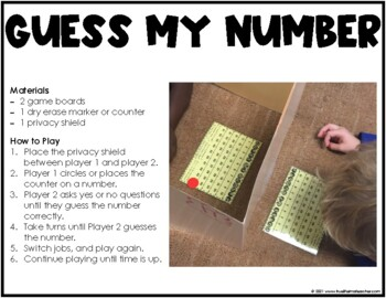 Math Center - Guess My Number