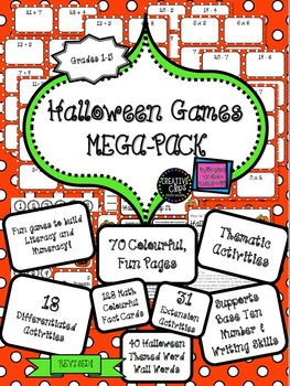 Halloween Activities QUICK AND EASY Literacy Numeracy