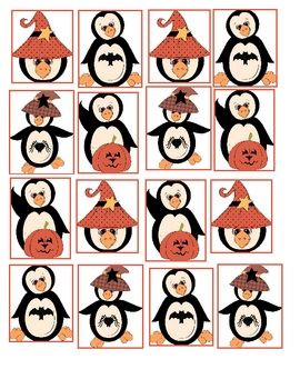 Math Center Halloween Pattern File Folder Game FREEBIE