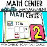"Math Center ""I Can"" Task Cards"