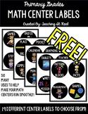 FREEBIE!!! Math Center Labels