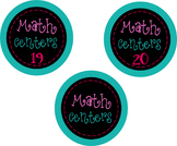 Bright Math Center Labels