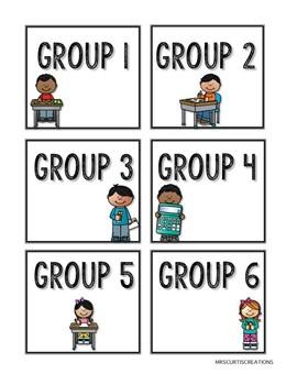 Math Center Labels