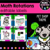 Math Center Labels Editable