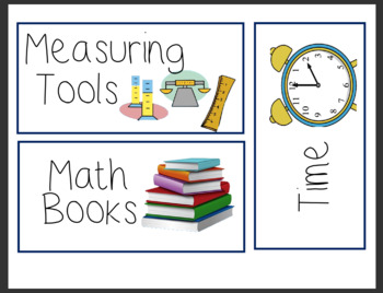 Math Center Labels (Grade 3 and 4)