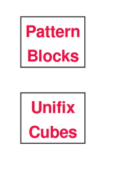 Math Center Labels with borders