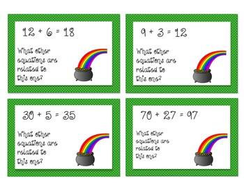 Math Center: Leprechaun Fact Families