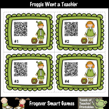St.Patrick's Day--Leprechaun Kids Fun with QR Codes (OClock/Half Past)
