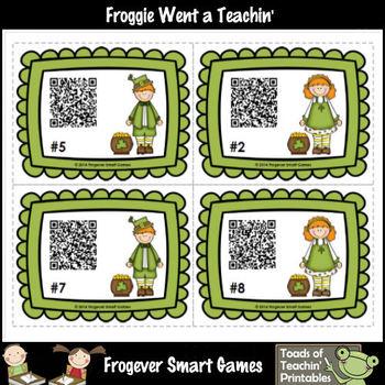 St.Patrick's Day--Leprechaun Kids Fun with QR Codes (Quarter Past/Quarter Till)