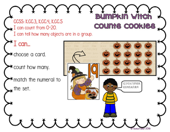 Math Center Lil' Bumpkin Witch Counting Numbers 0-20 Halloween