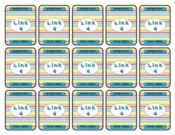 Math Center - Link 4: Multiplication Board Game - 2-10 Times Tables