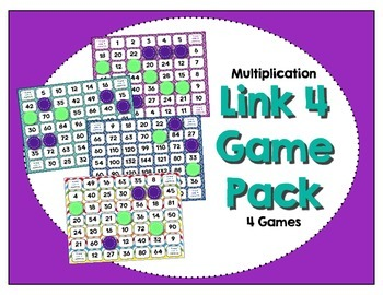 Math Center - Link 4: Multiplication Game Pack - 1-12 Times Tables (4 Games)