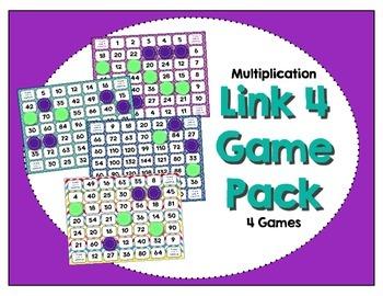 Math Center - Link 4: Multiplication Game Pack - 1-12 Time