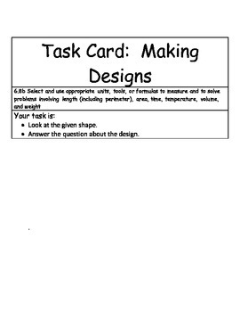 Math Center: Making Designs Solving problems involving lenght