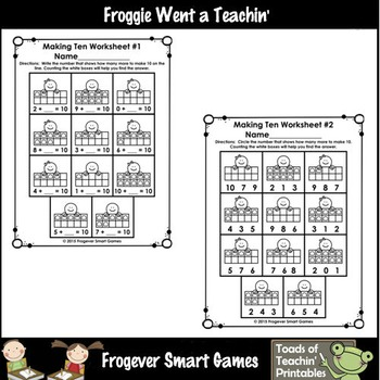 "Making Ten--Clip n' Learn ""Mister Gingy"" Ten Frames"