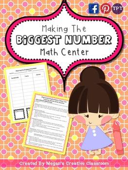 Math Center: Making the Biggest Number {Grades 2-4}