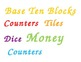 Math Center Manipulative Labels
