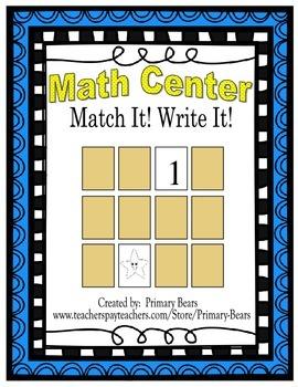Math Center - Match It! Write It!