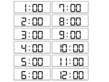 Math Center - Matching Analog and Digital Clocks