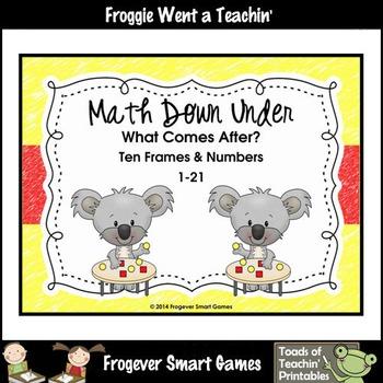 Math Center--Math Down Under What Comes After? Ten Frames