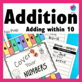 1st Grade Math Center Game - Fluency to 10  - No Prep!