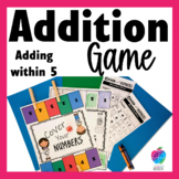Kindergarten Math Center Game - Fluency to 5 - No Prep! FREE