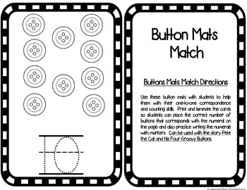 Math Center Mats:  Count the Buttons Freebie