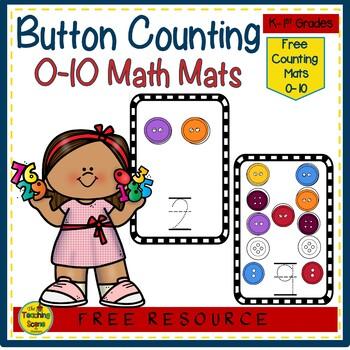 Button Mats Math Center Freebie