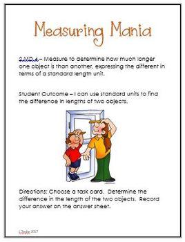 Math Center Measuring Mania 2.MD.4