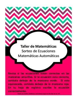 Math Center: Mental Math (Spanish and English)