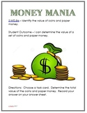 Math Center Money Mania 2.MD.8a