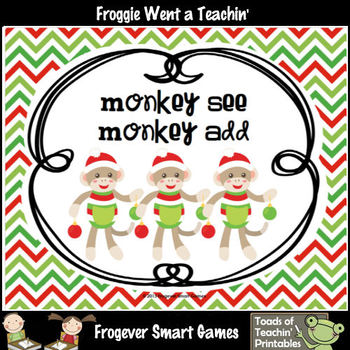 Three Addends Addition--Monkey See Monkey Add ( Column Addition)
