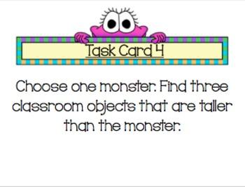 Math Center: Monster Measurement (NonStandard)